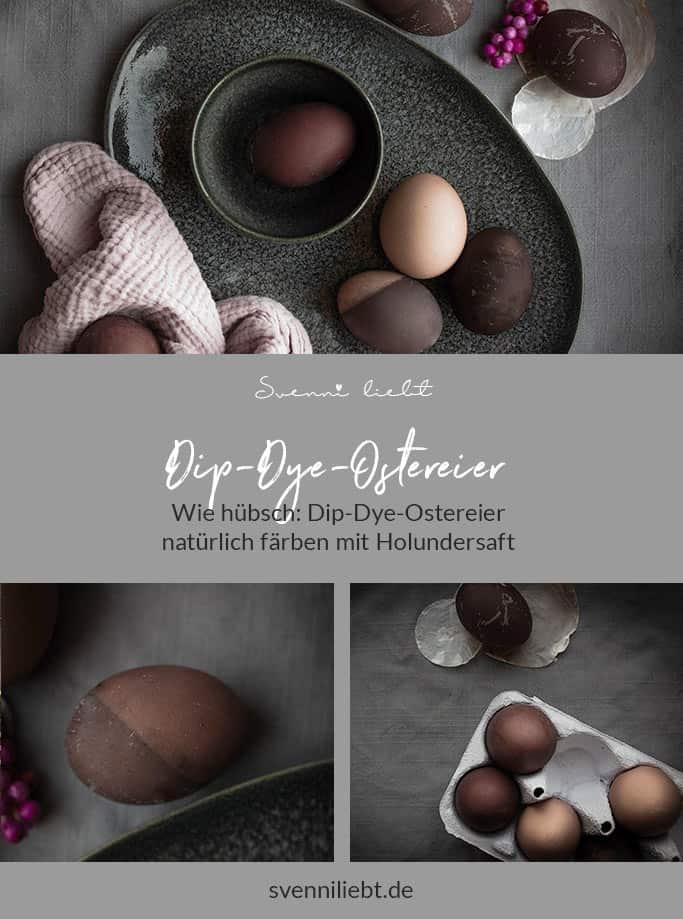 Merke dir die Idee auf Pinterest: Eier natürlich färben mit dunklem Holundersaft