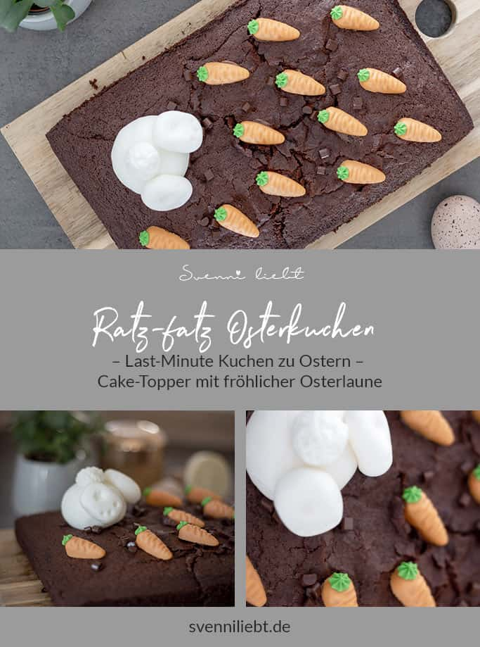 Den Osterhasen für den Kuchen machst du in wenigen Minuten aus Fondant