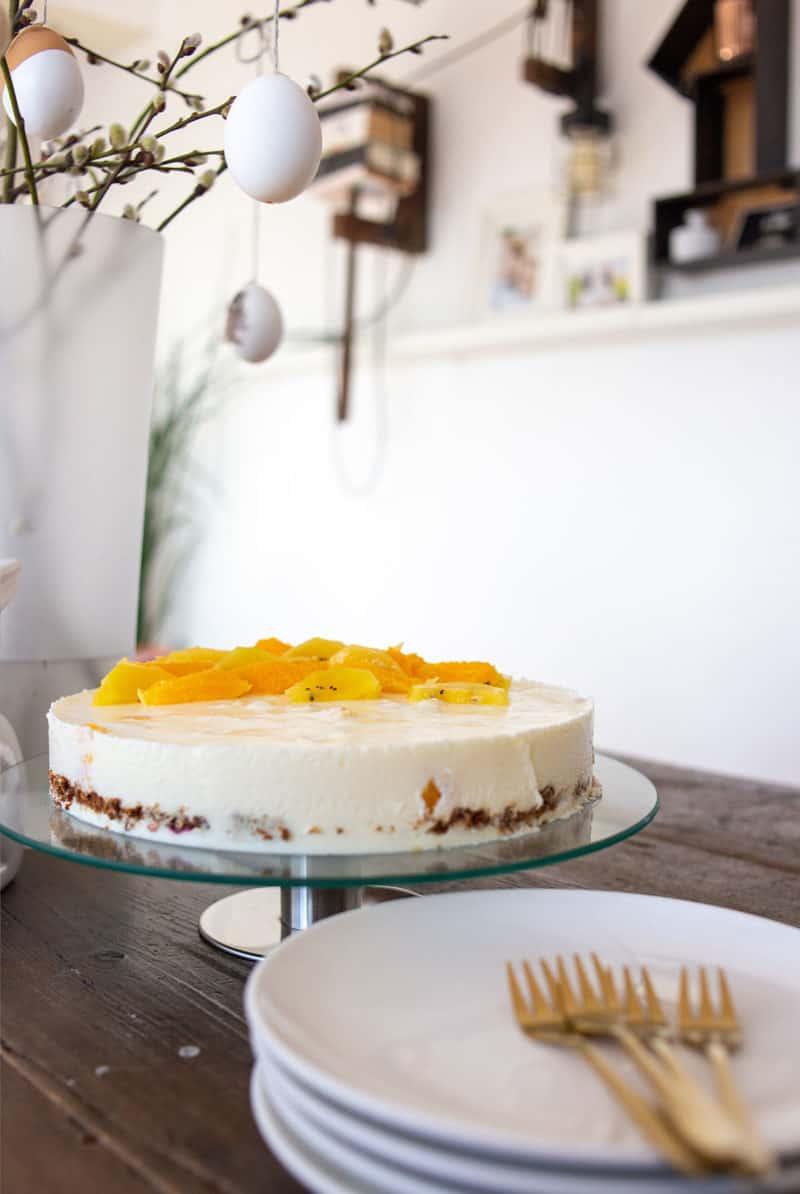 Rezept: Frühlingsfrische Joghurt-Orangen-Torte
