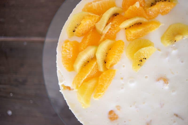 Kuchen-Genuss auf leichte Art mit Joghurt und Obst
