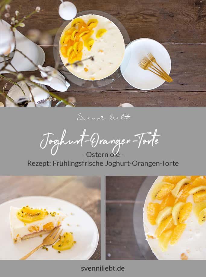Zubereitung der luftig-leichten Joghurt-Orangen-Torte auf Pinterest merken