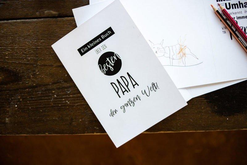 Ein personalisiertes Papa-Buch – mit Freebie für die Druckvorlage