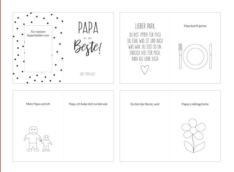Geschenk zum Vatertag: ein Buch zum Ausfüllen mit Freebie als Druckvorlage