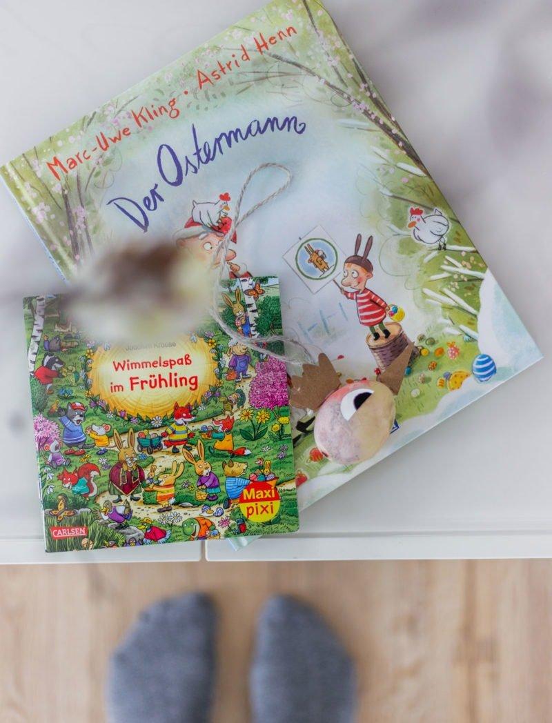 Lieblings Osterbücher: Der Ostermann von Marc-Uwe Kling und Wimmelspaß im Frühling von Joachim Krause