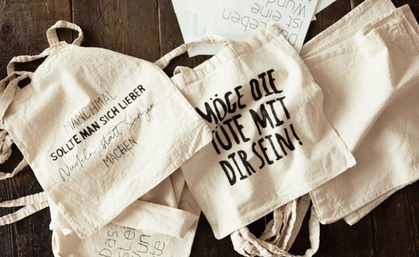 DIY Stoffbeutel / Jutetasche mit Textilstifte bemalen - coole Geschenkidee zum Basteln