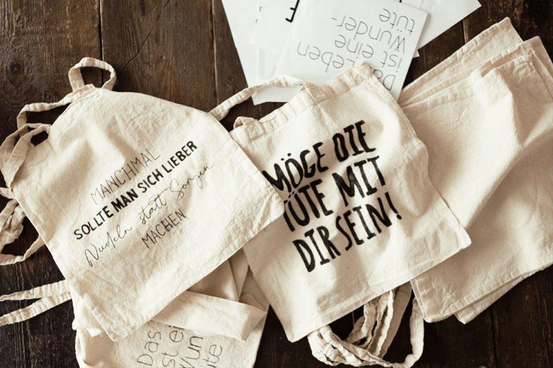 Schöne Prints für deine Stofftasche / Tragetasche - Schritt für Schritt Anleitung