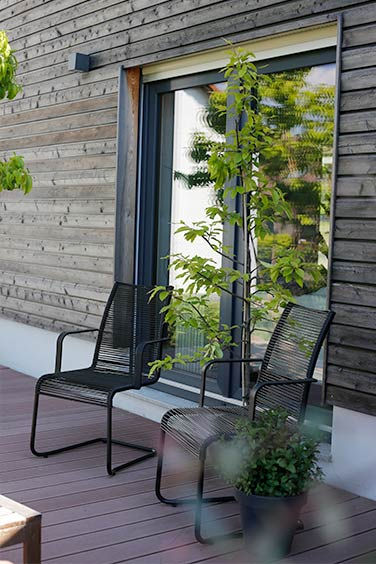 Moderne Gartenplanung - Sitzplatz