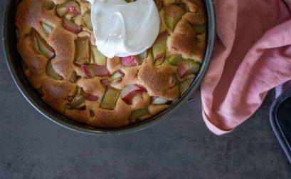 Rezept Rhabarber Kuchen mit Baiser