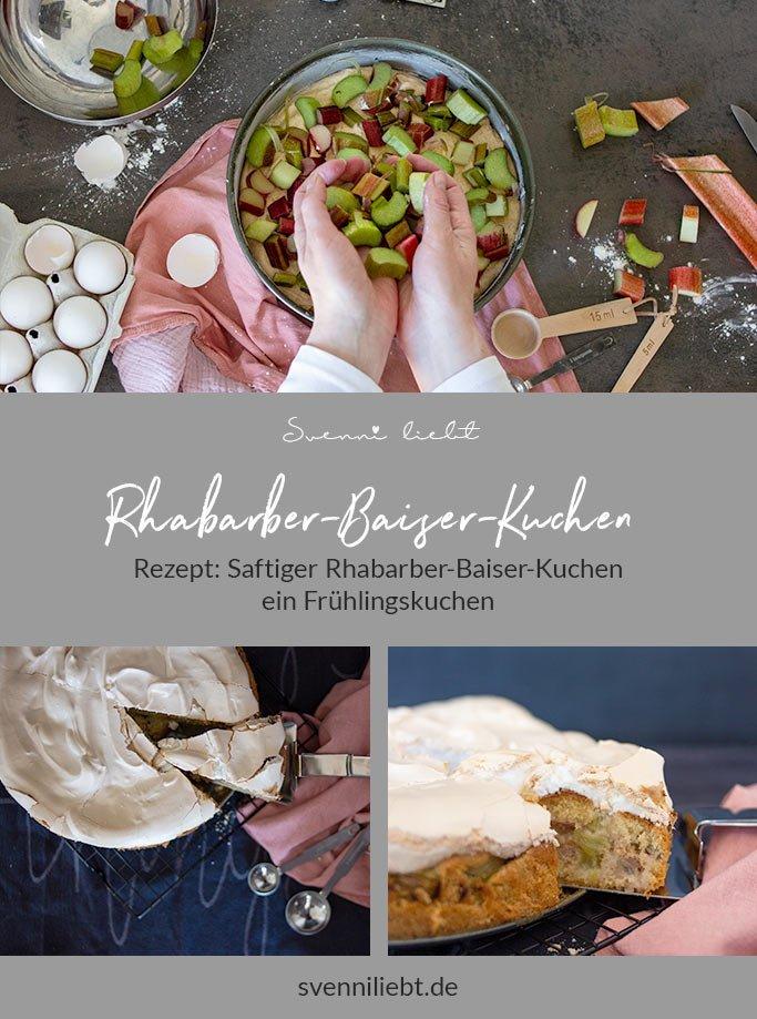 Merken dir die Rezept-Idee für den Rhabarber-Kuchen auf Pinterest