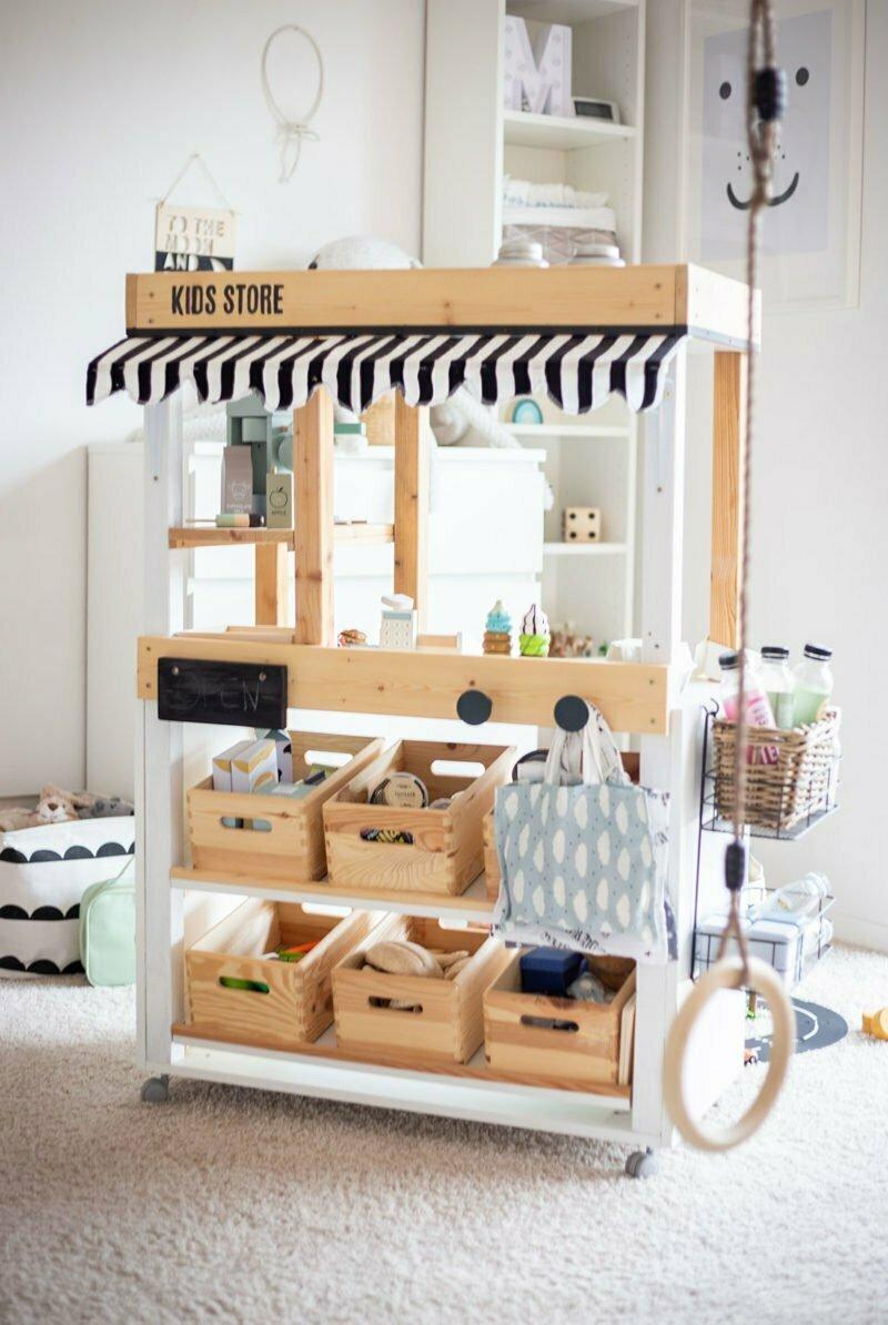 DIY Kaufladen / Marktstand mit Schritt für Schritt Anleitung und Bauplan