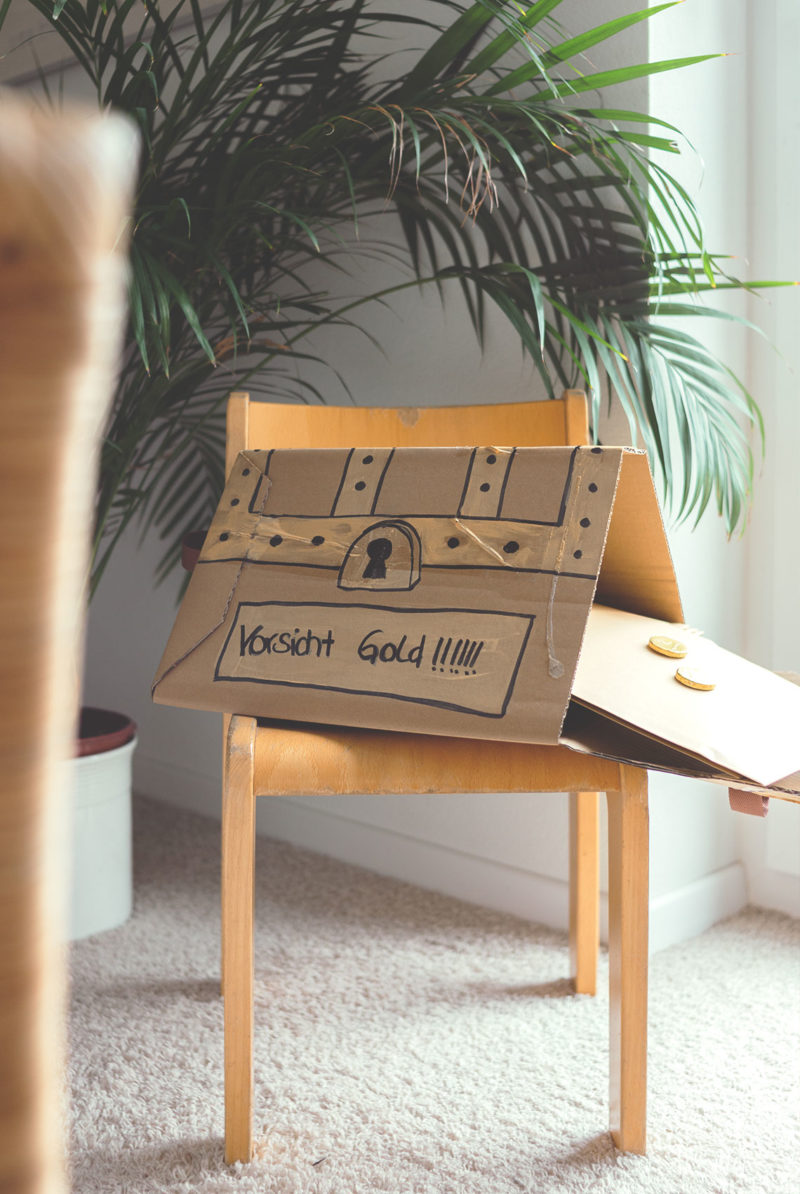 Schatzsuche / Schnitzeljagd für den Kindergeburtstag. DIY