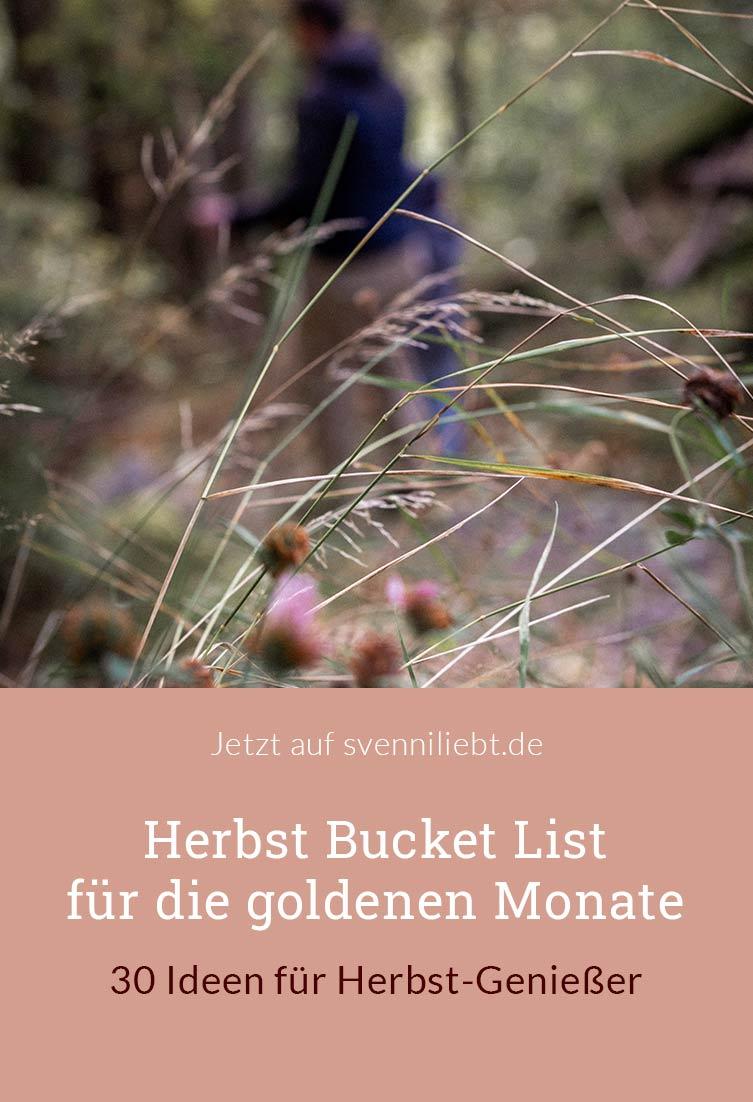 Bucket List für den Herbst