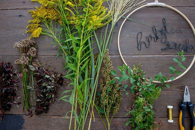 Ein schöner Herbst-Kranz für Wand oder Haustür