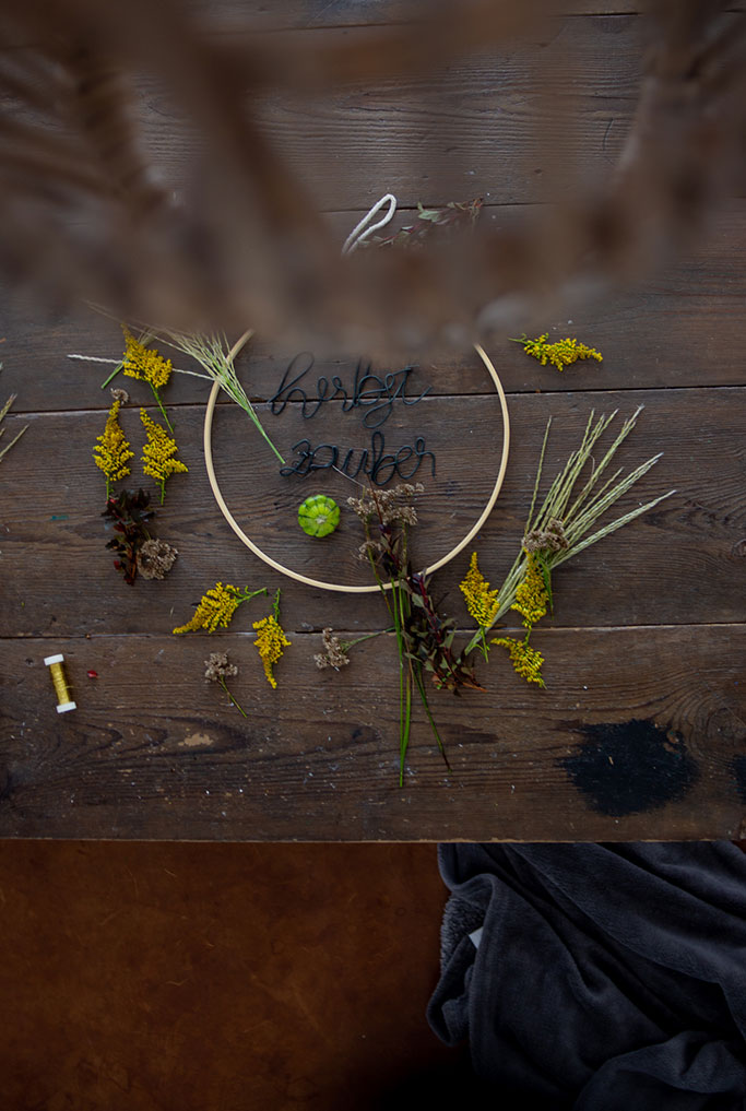 DIY Herbstdeko, einfachen Kranz binden