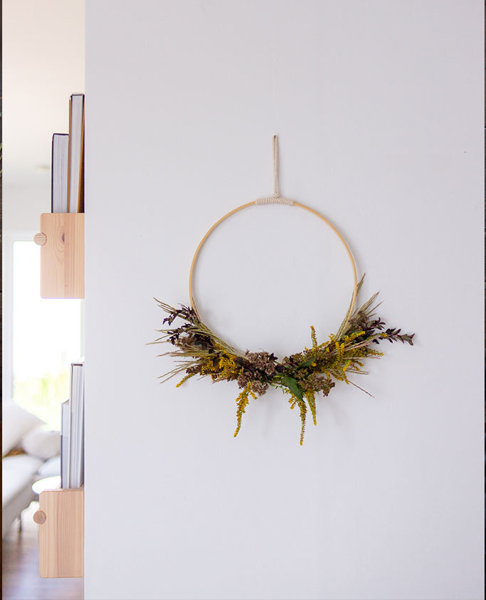 Einfacher DIY Herbstkranz wie vom Floristen